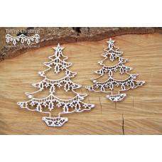 Tatting Christmas - Christmas Trees - Scrapiniec