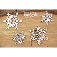 Tatting Christmas - Small Stars - Scrapiniec