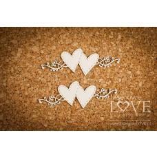 Hearts and ornaments - Simple Wedding - Laserowe LOVE