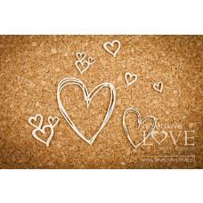 Hearts - Simple Wedding - Laserowe LOVE