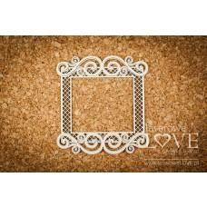 Square frame with ornaments - Vintage Ornaments - Laserowe LOVE