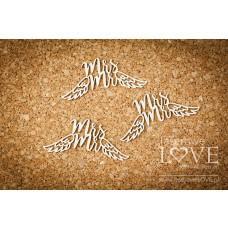Mr & Mrs with wings - Simple Wedding - Laserowe LOVE