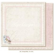 Paper - It's A Girl - Vintage Baby