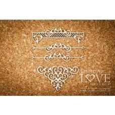 Decorations - Vintage Ornaments - Laserowe LOVE