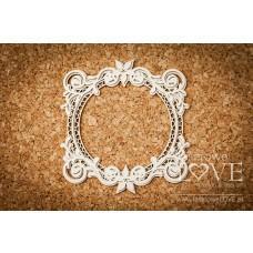 Round frame - Flower - Laserowe LOVE
