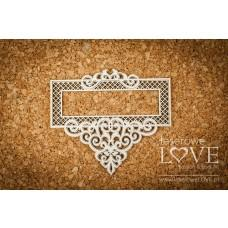 Rectangle frame with ornaments - Vintage Ornaments - Laserowe LOVE