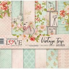 Set of papers - Vintage Trip - 30,5 x 30,5 cm - Laserowe LOVE