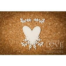 Heart - Simple Wedding - Laserowe LOVE