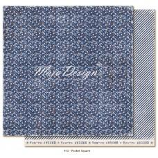 Paper - Pocket Square - Denim & Friends