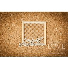 Square grain frame with mesh - Tatra life - Laserowe LOVE