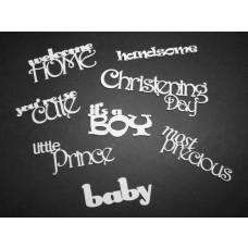 It's a Boy! Sheet of Words - Scrapiniec