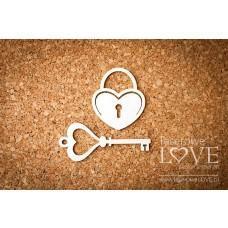 Key and padlock - Laserowe LOVE
