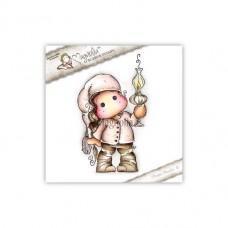 Tilda with Christmas Lamp - Magnolia