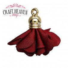 Wine Red Flower Pendant