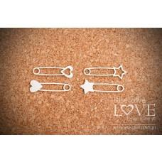 Decorative safety pins - Laserowe LOVE