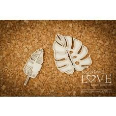 Tropical leaves set 3 - Vintage Tropical Island - Laserowe LOVE