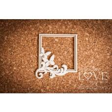 Square frame Pappilon leaves with butterflies - Laserowe LOVE