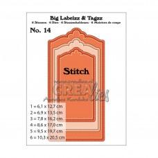 Crea-Lies Big Labelzz & Tagzz Dies no.14 - With Stitchline