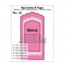 Crea-Lies Big Labelzz & Tagzz Dies no.15 - With Stitchline