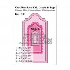 Crea-Nest-Lies XXL Labels & Tags Dies no.12 Stitchline