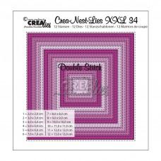 Crea-Nest-Lies XXL Dies no.34 - Squares with Double Stitch