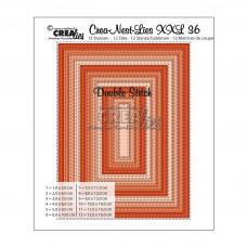 Crea-Nest-Lies XXL Dies no.36 - Rectangles with Double Stitch