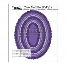 Crea-Nest-Lies XXL Dies no. 71 - Ovals with Open Scallop