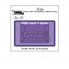 Crea-Lies X-tra Dies no.20 Gift Card with Slots