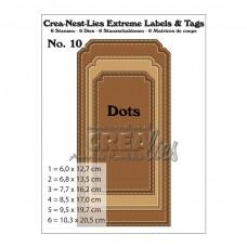 Crea-Nest-Lies Extreme Labels & Tags dies no.10 - With Dots