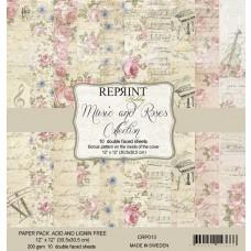 Reprint - Music & Roses - 12x12 Inch Paper Pack