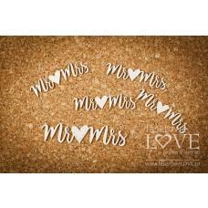 Mr & Mrs - Simple Wedding - Laserowe LOVE