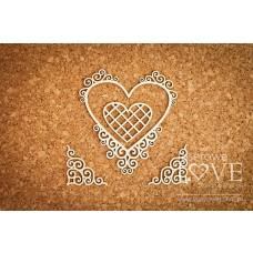 Heart frame with noble ornaments - Paroles - Laserowe LOVE