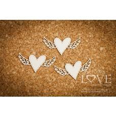 Heart with wings - Simple Wedding - Laserowe LOVE