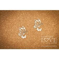Two butterflies - Soufre - Laserowe LOVE
