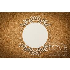 Round ornament one-layered - Vintage Ornaments - Laserowe LOVE