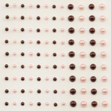 Self-Adhesive Half-Pearls - Grenadine