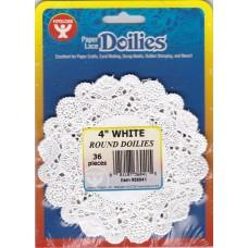 Paper doilies - Round 4'' - White