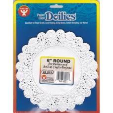 Paper doilies - Round 6'' - White