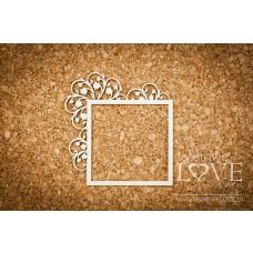 Square frame with lilies of the valleys - First Love - Laserowe LOVE
