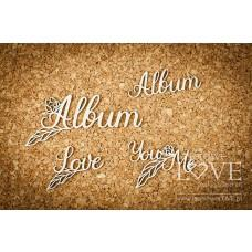 Album, Love You and Me - Coral, Navy Romance - Laserowe LOVE
