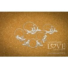 Small oval frames with ornaments - Holy & White - Laserowe LOVE
