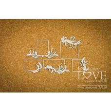 Small rectangular frames - Holy & White - Laserowe LOVE