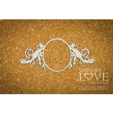 Big oval frame - Holy & White - Laserowe LOVE