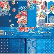 Set of papers - Navy Romance - 30,5 x 30,5 cm - Laserowe LOVE