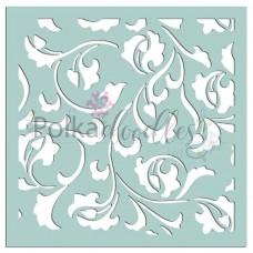 Damask Delights 6x6 Inch Stencil - Polkadoodles