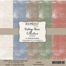 Reprint - Basic Stars - 12x12 Inch Paper Pack