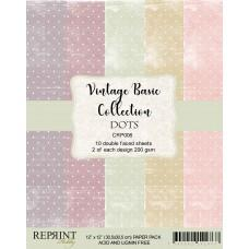 Reprint - Dots Basic - 12x12 Inch Paper Pack
