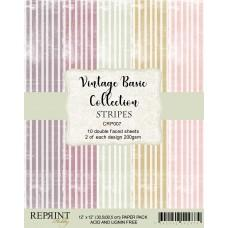 Reprint - Stripes Basic - 12x12 Inch Paper Pack