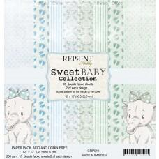 Reprint - Sweet Baby Blue - 12x12 Inch Paper Pack
