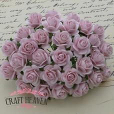 Pale Pink Mulberry Paper Open Roses - 20mm